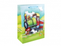 3D Gift Bag with Glitters 17.5x24 cm for Boy